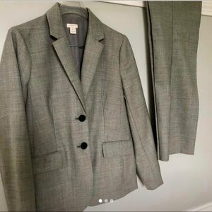 J. Crew Petite Gray Suit